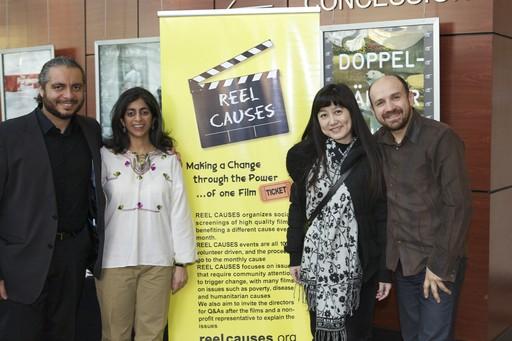 From left: Mohamed Ehab, Meharoona Ghani, Lily Wang, Gabriel Morosan