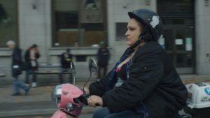 Angel on bike